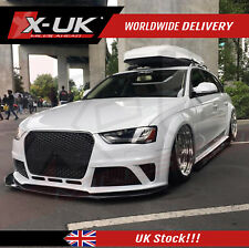 RS4 style front grill gloss black for Audi A4 / S4 B8.5 2013-2015