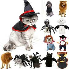 New listing Us Halloween Cosplay Costume Pets Puppy Dog Cat Funny Party Fancy Dress Apparels