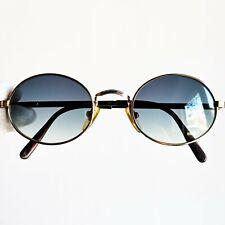 occhiali da sole DESIL Gold plated oval sunglasses vintage rare steampunk goth