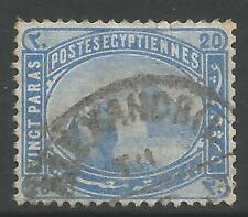 EGYPT. 1879. 20 Para Pale Blue, Variety Watermark Inverted. SG: 46w. Fine Used.