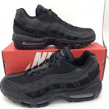 "Men's Nike Air Max 95 Essential ""Triple Black Athletic Fashion Casual CI3705 001"