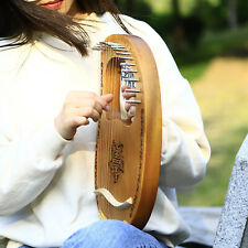 Geschnitzte Harfe Mahagoni & String Tuning Wrench Neujahrsgeschenk für Kinder