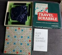 Vintage Travel Scrabble Spears Game with Clip In Tiles complete with manual