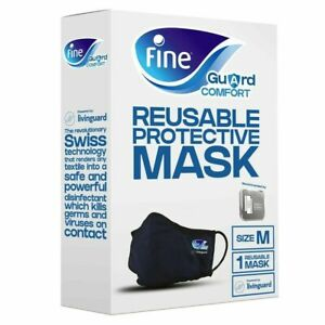 Fine Guard Comfort Face Mask With Patented Livinguard Technology Med or Lg