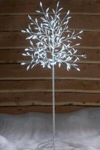 White Elegant LED Leaf Tree Mains Powered Christmas xmas Indoor outdoor 4ft, 6ft