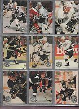 ProSet Platinum Hockey 1991-1992 complete set all in nine card pages