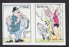 Panini - Football 86 - # 441 Manchester City/ Manchester United Nicknames