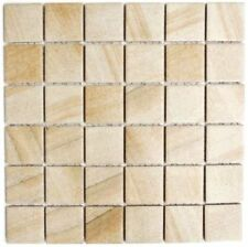 Keramikmosaik Steinoptik sandbeige Boden Dusche Spiegel Art:WB16-AISO|1 Matte