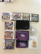 NEW Nintendo 3DS XL Galaxy Style W/ Box  Bundle With 7 Games. Very Nice
