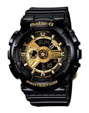 Casio Baby-G BA110-1ACR Tandem Series Women's Black Gold Analog Digital Watch