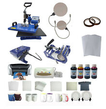 5in1 Sublimation Heat Press Printer Ink CISS T-shirt Mug Plate Hat Transfer KIT