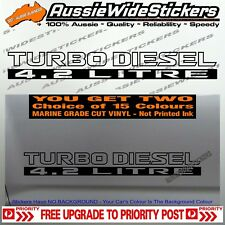 TURBO DIESEL 4.2 LITRE GQ GU For Nissan Patrol Doors Cut Vinyl Stickers x2 500mm