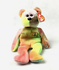 Beanie Babies Peace Bear Retired Many Errors Mint Extremely Rare 1996 Plush Toy