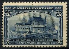 Colonie du canada 1908 SG#191, 5c indigo québec tercentenary utilisé #D37410