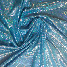 REFRACTIVE SHATTERED HOLOGRAM CHIP,NYLON LYCRA 4WAY STRETCHY DANCE FABRIC 60""