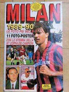 Maxi Rivista A.C.MILAN CALCIO ANNO 1989/90 + POSTER MILAN CAMPIONE D'EUROPA