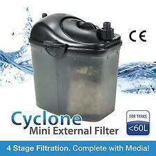 RESUN CY-20 CYCLONE CANISTER Aquarium Fish Tank HOB External Filter 200L/H MEDIA
