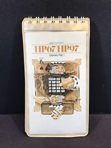 Games Pac I - HP-67 HP-97 Hewlett Packard Calculator