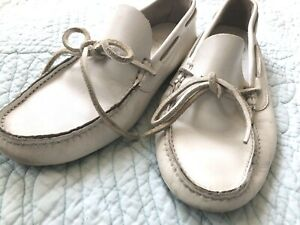 Church's Leather Loafers Sz 38 White Leather Excellent condition