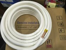 25 Feet 1/4 x 3/8 Ductless Split AC Connection Line Set for All Refrigerants.