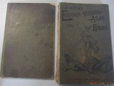 Ferrovie e trasporti Atlante Europa + manuale dei trasporti/chilometri tabella... 1905!!!
