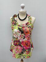 Women's Size 8 ☀️ Gorgeous Summer Next Green Floral Sleeveless Top Blouse