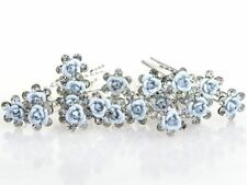Lot de 10 épingles chignon fleur et strass , bijou de cheveux mariage