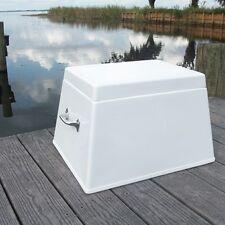 """Fiberglass Step Box - 13""""H X 20""""W X 16""""D - Boat Dock Deck Storage - CMS01/L"""