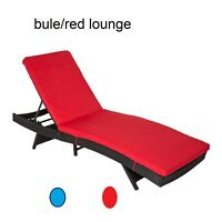 Wicker Chaise Lounge Adjustable Patio Couch Pool Outdoor 2 Colors