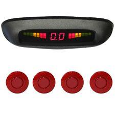 """Einparkhilfe """"Parking Welt"""" 4x Sensoren 21mm Rot Rückfahrwarner PDC M77"""