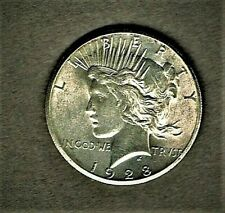 1928 Peace dollar; 900 silver composition at A.U. +++ condition