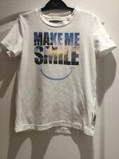 BOYS CREAM GENUINE TOMMY HILGIGER T-SHIRT SIZE 104 'MAKE ME SMILE' LOGO