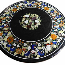 "60""x60"" Marble Center Table Top Handmade Pietra Dura Inlay Home Decor And Garden"