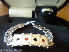 MENS WOMENS LCS DIAMOND POKER CARD BRACELET RING SZ 10 SZ 11 SZ 12 SZ 13 SZ 14