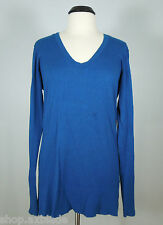 AMERICAN EAGLE OUTFITTERS Long Blue Scoop Neck Sweater Top Juniors size XXL