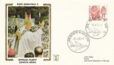 1982 POPE JOHN PAUL II GENEVA to ROME FLIGHT POST COVER