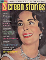 Screen Stories Magazine Elizabeth Taylor Sophia Loren December 1960