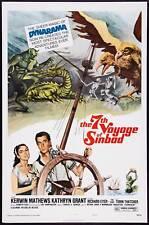 THE 7TH VOYAGE OF SINBAD original one sheet 27x41 movie poster RAY HARRYHAUSEN