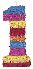 Pinata Numeral 1 (55cm x 24cm) M6671 , Girls Boys Birthday , Kids Party , Favors