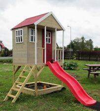 Kinderspielhaus mit Rutsche Sandkasten und Treppe spielhaus, Spielhaus Holz