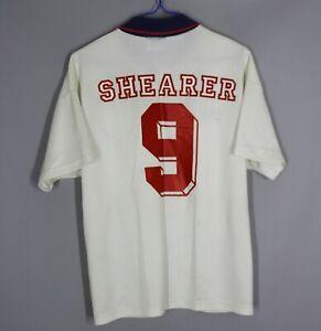 VINTAGE ENGLAND NATIONAL TEAM 1993/1994 HOME FOOTBALL SHIRT JERSEY #9 SHEARER