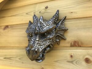Dragons Head plaque, Stone garden ornament