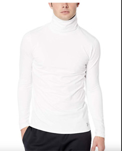 Under Armour Men's Fitted Coldgear Funnel Neck $55 White, Navy  Or Black