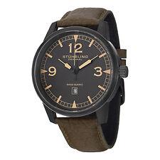 Stuhrling Original Men's 1129Q.03 Condor Swiss Quartz Aviator Leather Watch