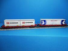 Hobbytrain H23766 Containerwagenset DB Schenker - Hellmann,Neu,OVP,M1:160