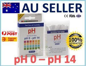 NEW 100 PH 0-14 Test Strips Alkaline Acid Water Universal Litmus Paper Sticks