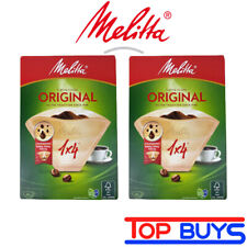 Melitta 80 Original Coffee Filters Size 1 x 4 For Coffee Makers (2 x 40 Packs)