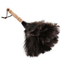 Anti-statico piuma di struzzo Pelliccia Spazzola Duster pulizia della polvere Strumento manico in legno nero