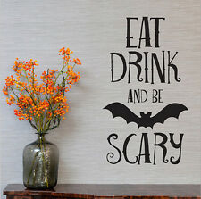US Halloween Bat Decal Living Room Wall Stickers Removable Glass Showcase Decor