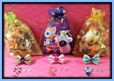 🌺 Littlest Pet Shop ~SURPRISE GRAB BLIND BAG LOT~ 3 Pets & 3 Custom Accessories